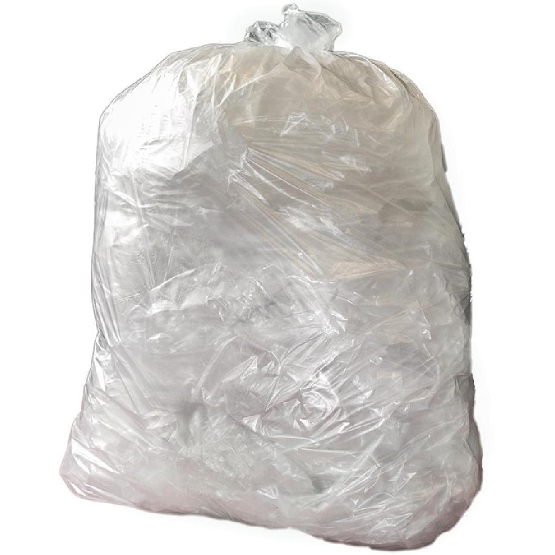 Jantex Large Medium Duty Clear Bin Bags 90Ltr