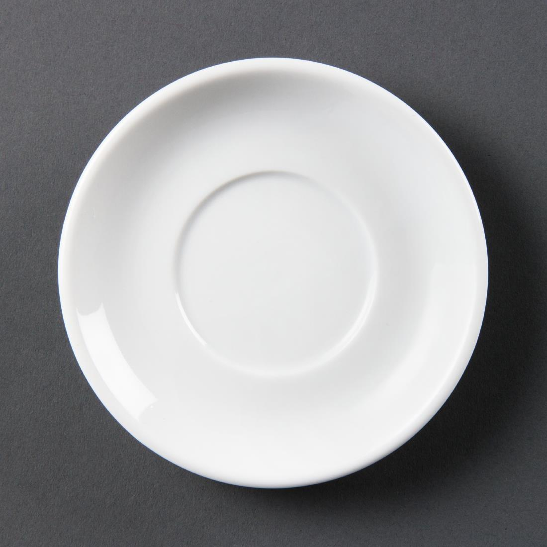Olympia Whiteware Stacking Espresso Saucers