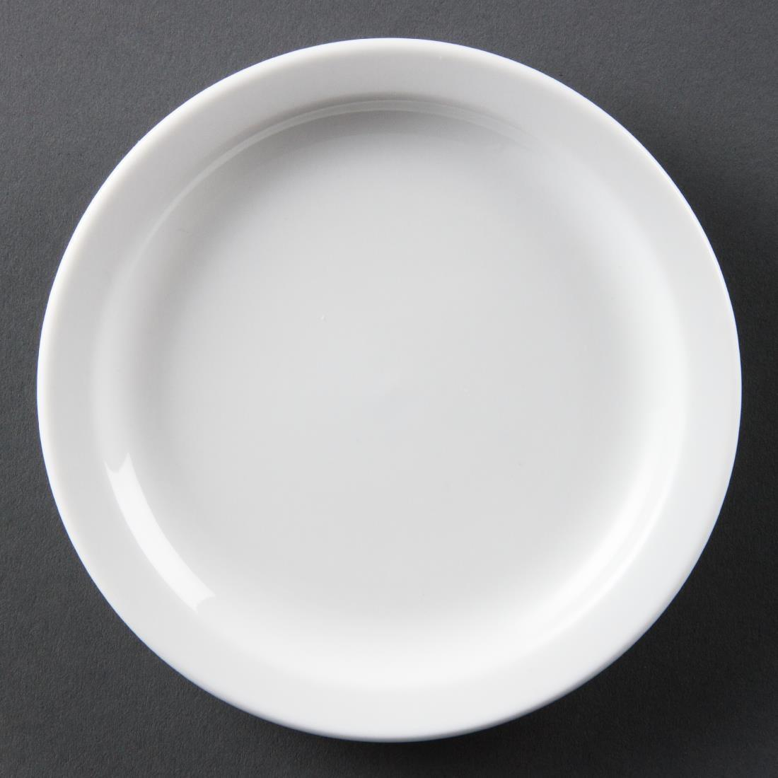 Olympia Whiteware Narrow Rimmed Plates 150mm