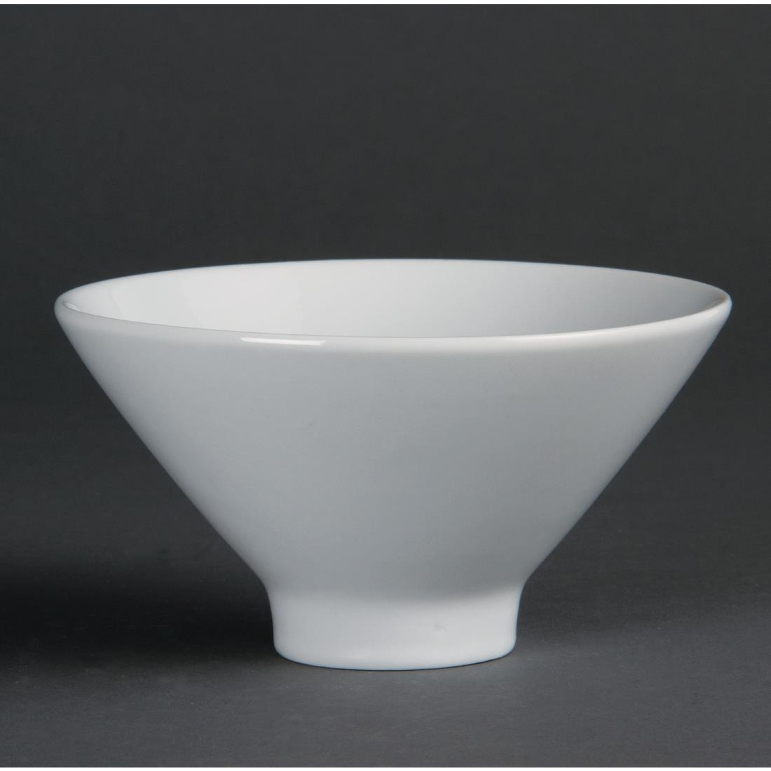 Olympia Whiteware Fluted Bowls 141mm