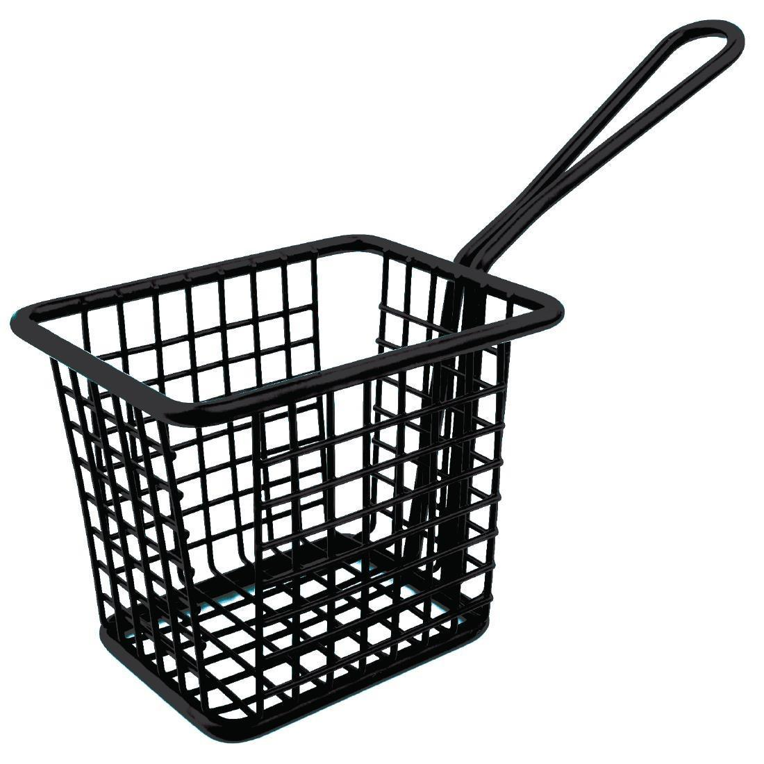 Olympia Mini Square Fryer Basket Black