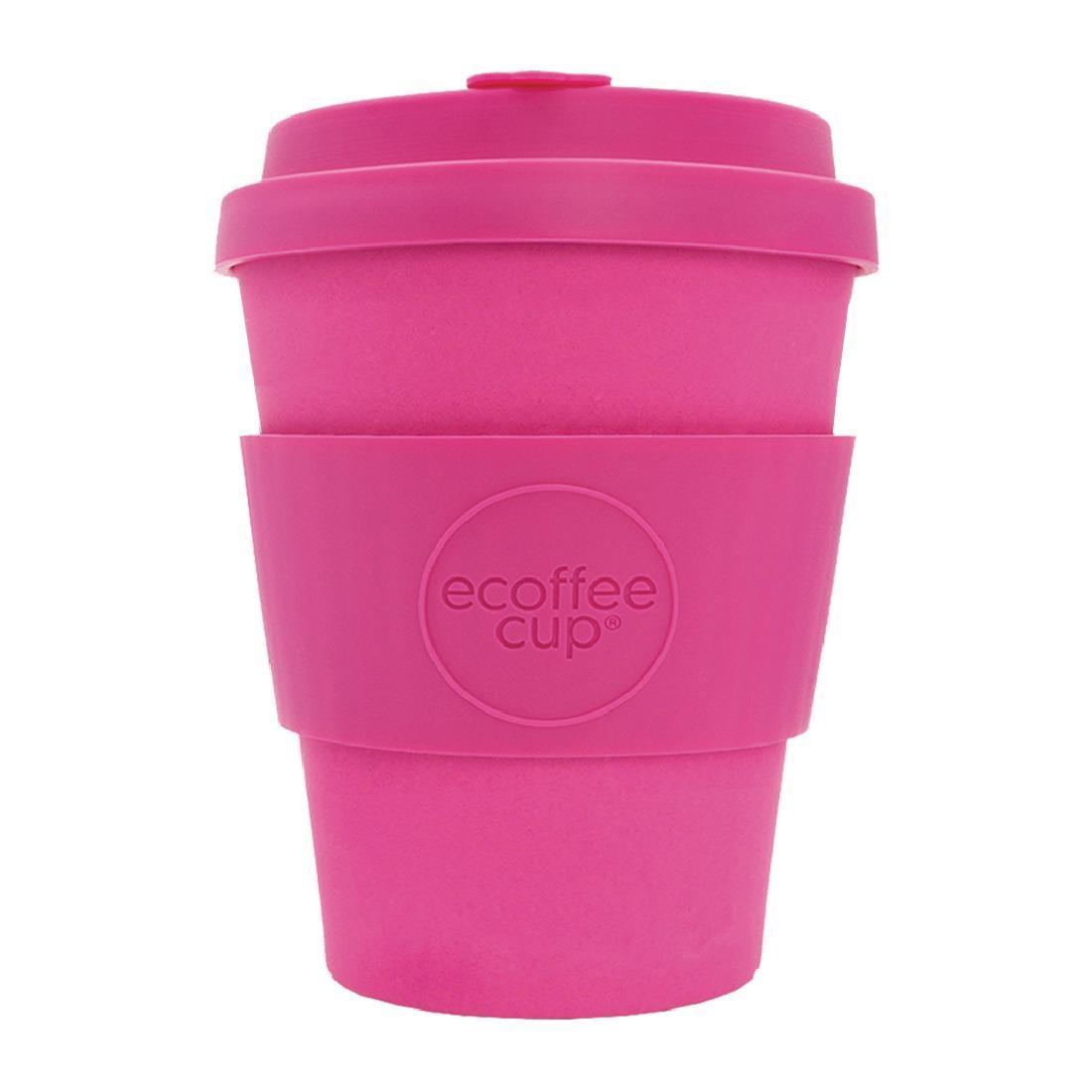 Ecoffee Cup Bamboo Reusable Coffee Cup Pink'd 12oz - Each - DY486