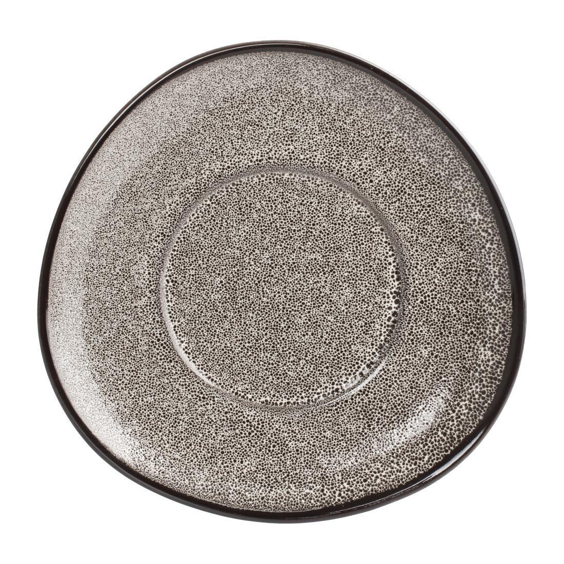 Olympia Mineral Triangular Cappuccino Saucer Grey Stone 150mm