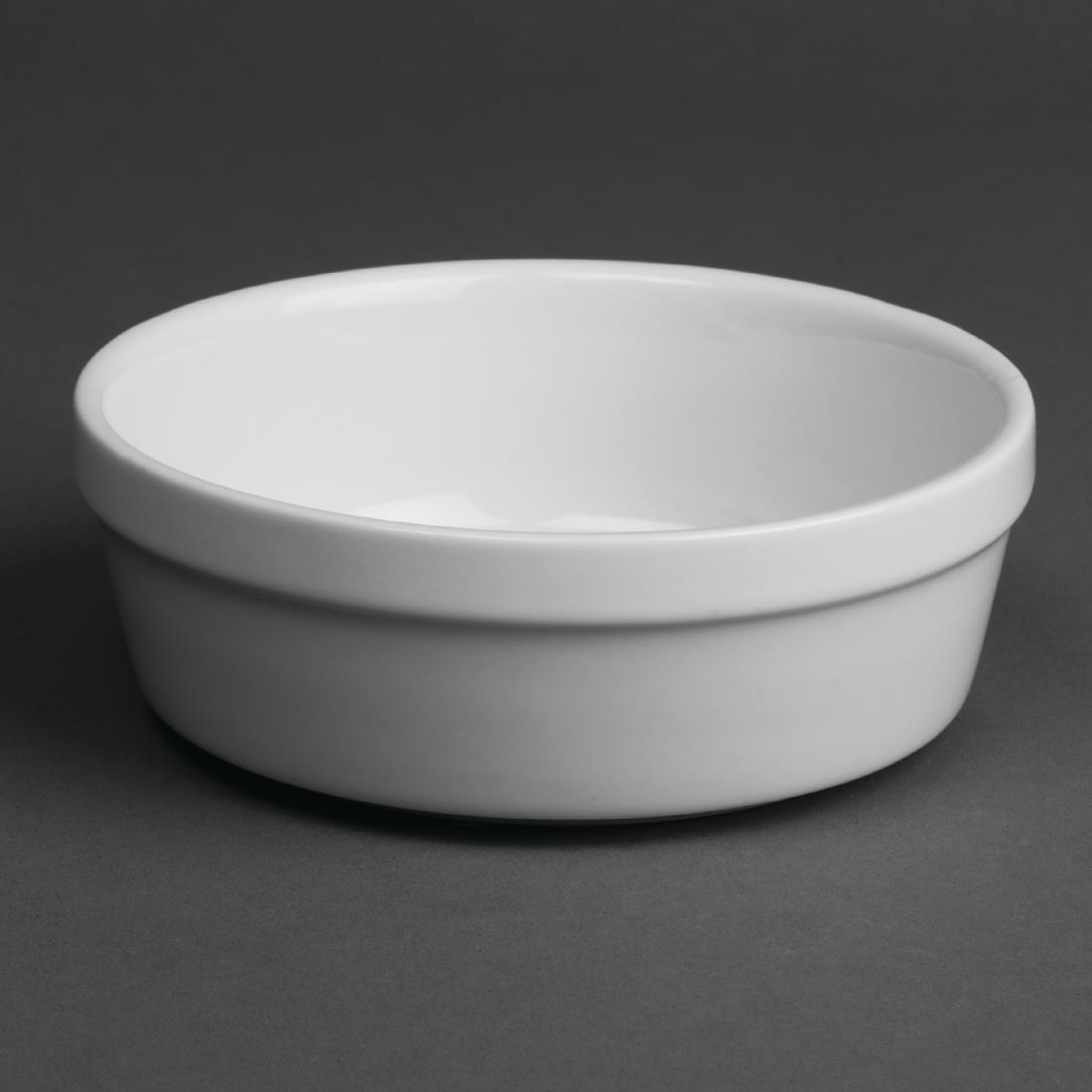 Olympia Whiteware Round Pie Bowls 119mm