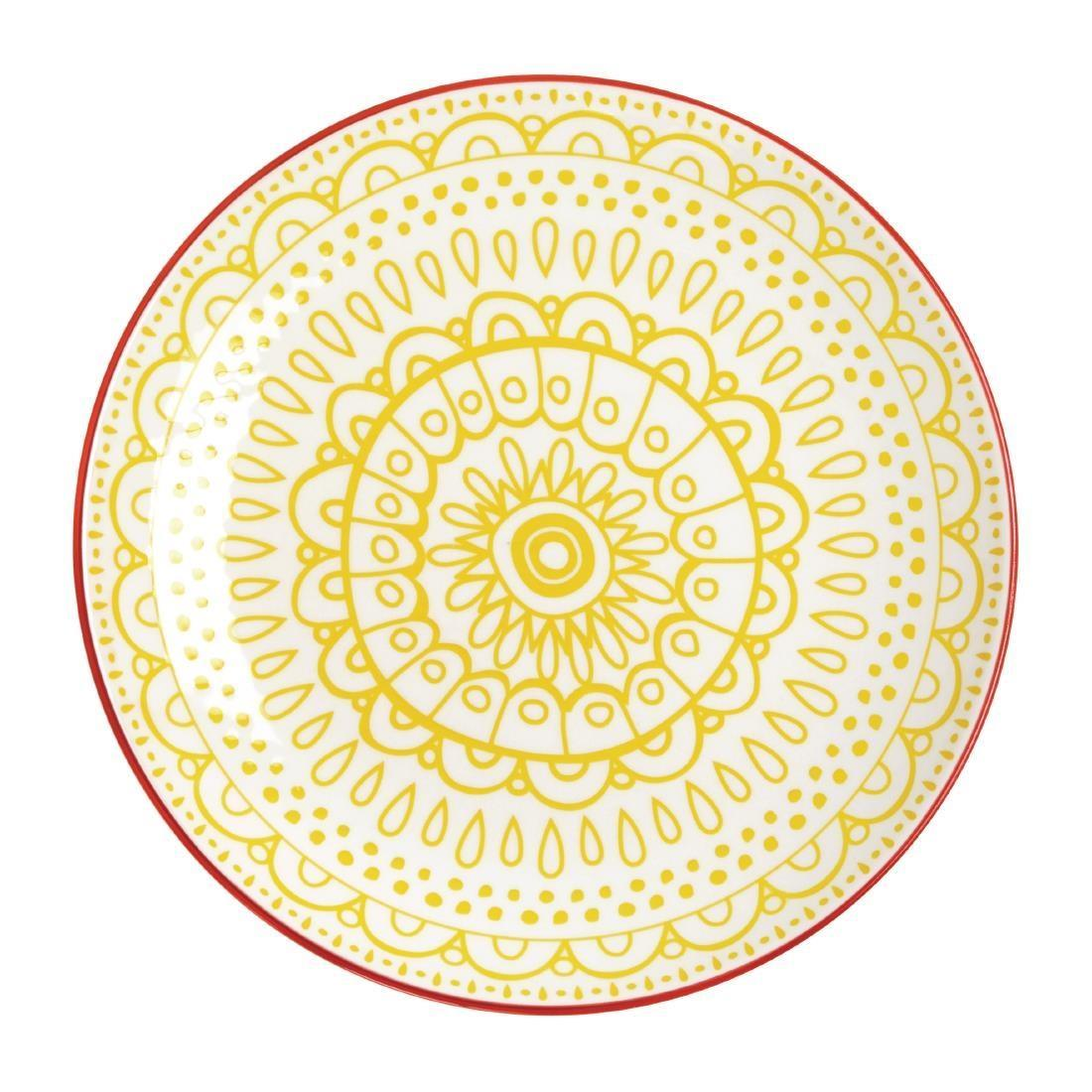 Olympia Fresca Plates Yellow 268mm