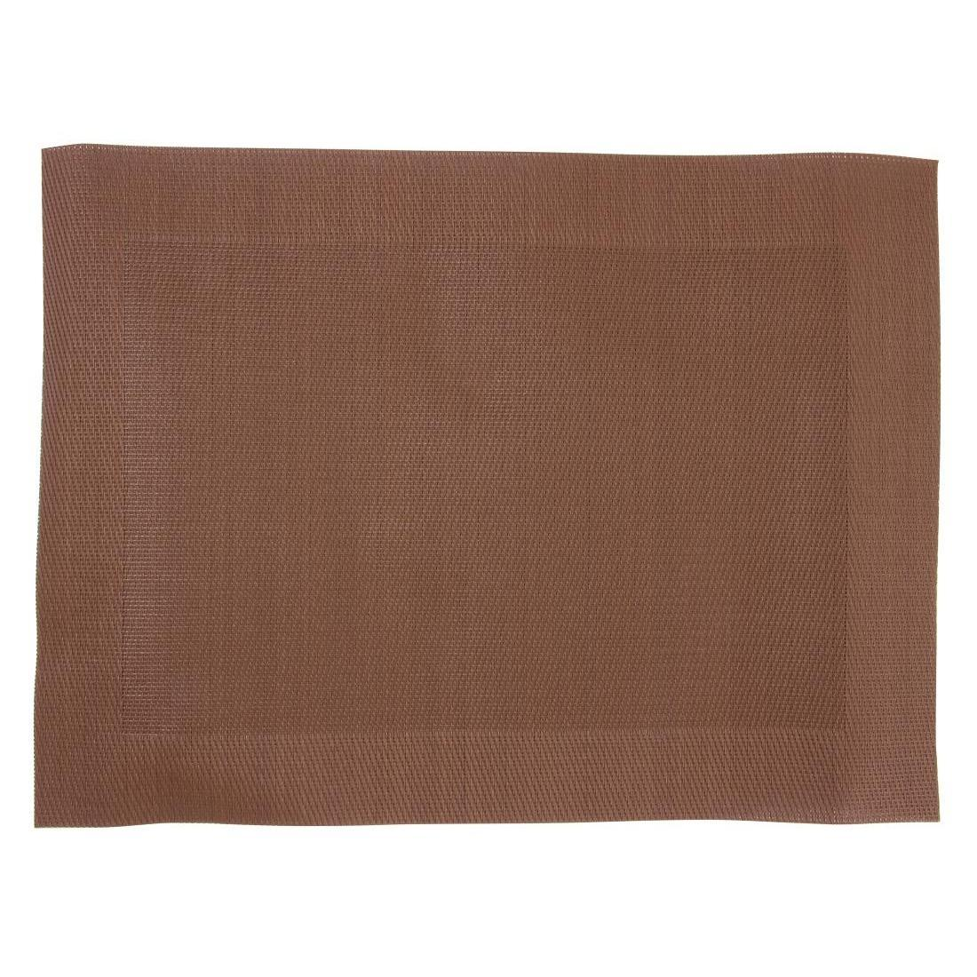 Woven PVC Brown Table Mat