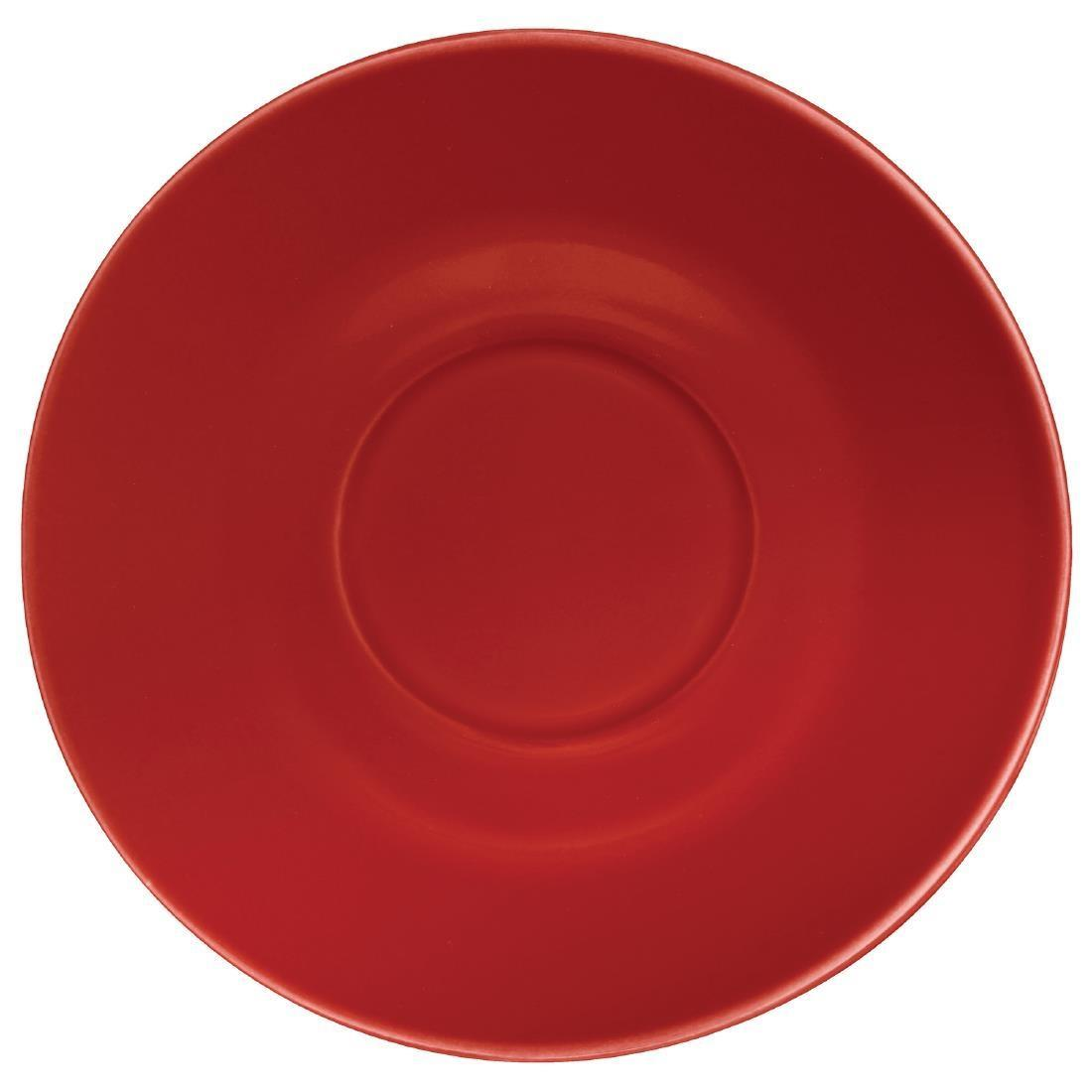 Olympia Cafe Saucers Red 158mm