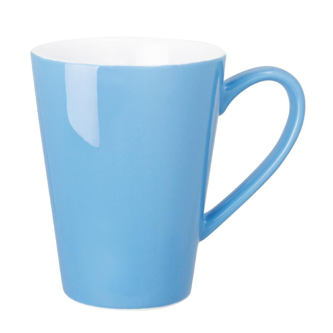 Olympia Cafe Latte Cups Blue 340ml