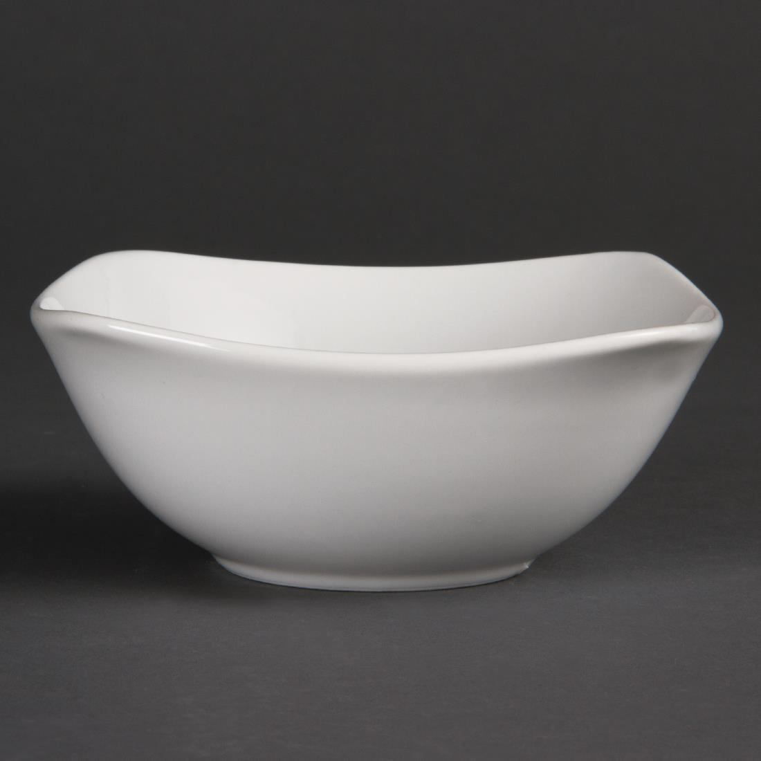Olympia Whiteware Rounded Square Bowls 140mm