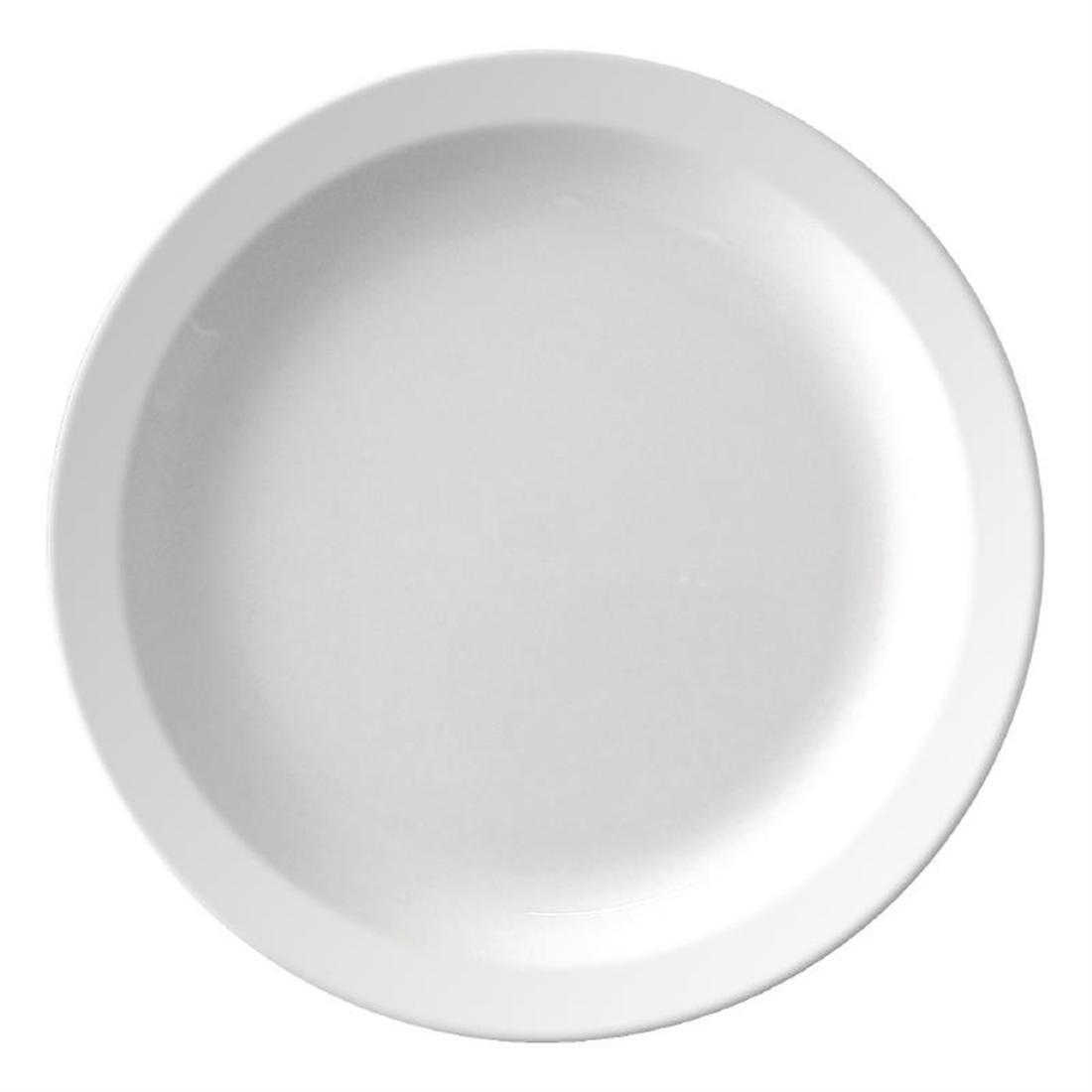 Kristallon Melamine Narrow Rimmed Plates 229mm - Case 12 - CB671