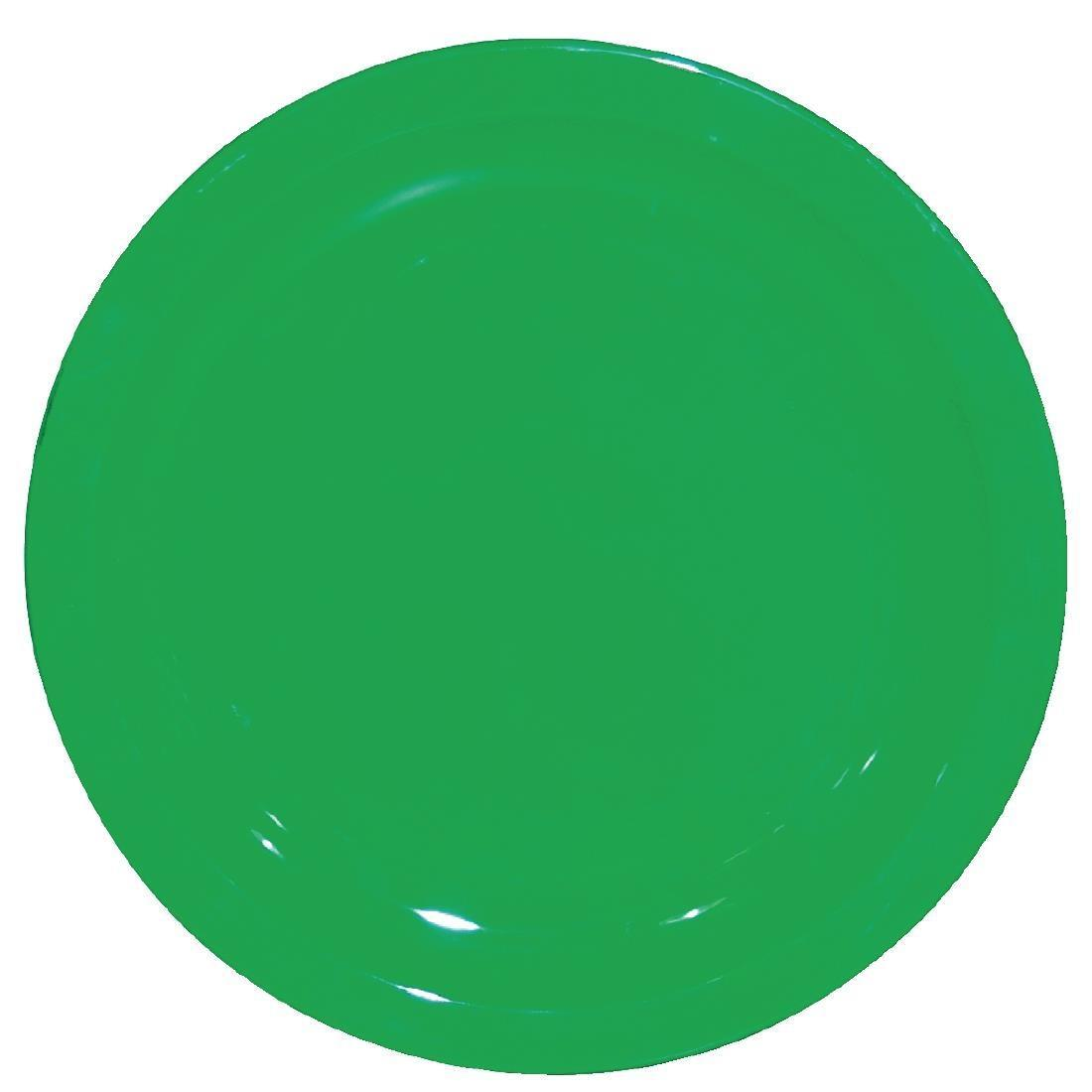 Kristallon Polycarbonate Plates Green 230mm - Case 12 - CB768