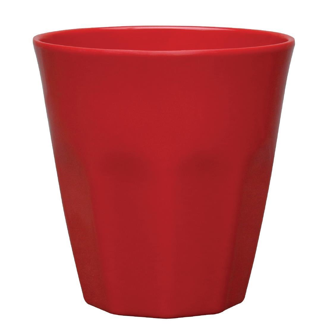 Kristallon Melamine Plastic Tumbler Red 290ml - Case 6 - CR343