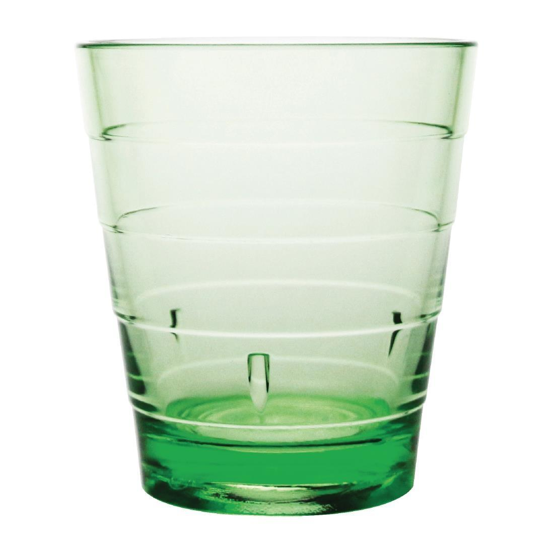 Kristallon Polycarbonate Ringed Tumbler Green 285ml - Case 6 - DC922