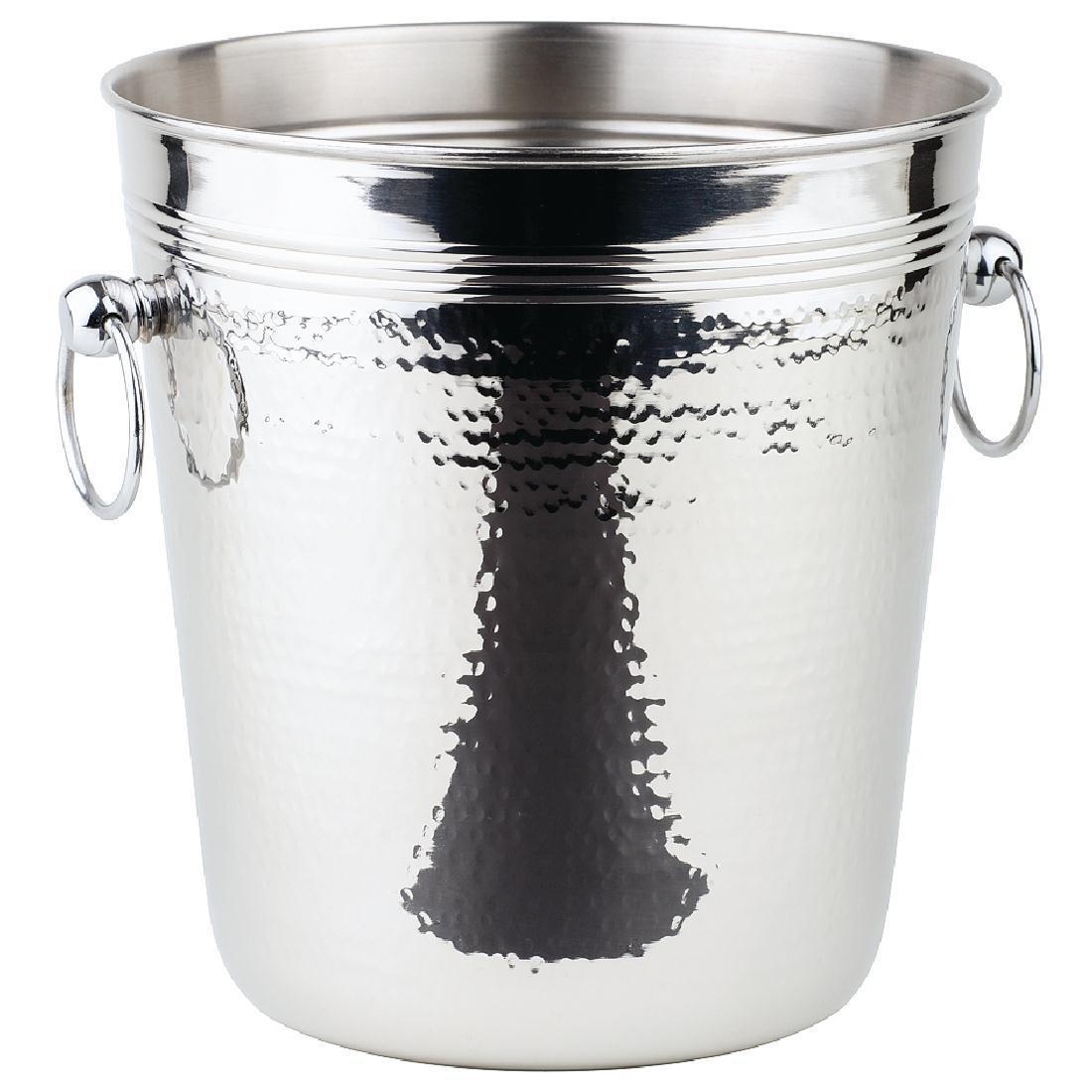 APS Hammered Stainless Steel Wine And Champagne Bucket - Each - CB883