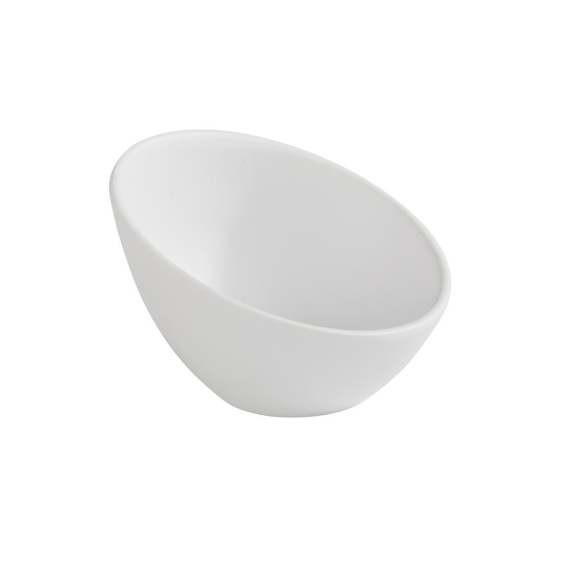 APS Zen Melamine Round Sloped Dipping Pot White 80ml - Each - DA294