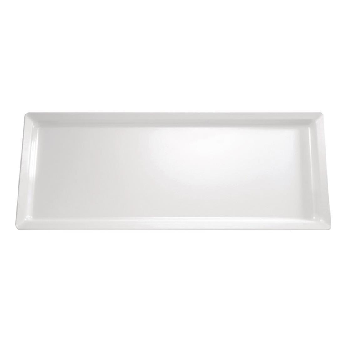 APS Pure Melamine Rectangular Tray White 650mm - Each - GF130