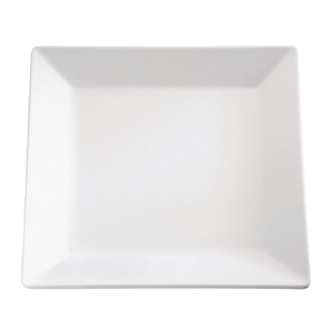 APS Pure Melamine Square Tray 7in - Each - GF170