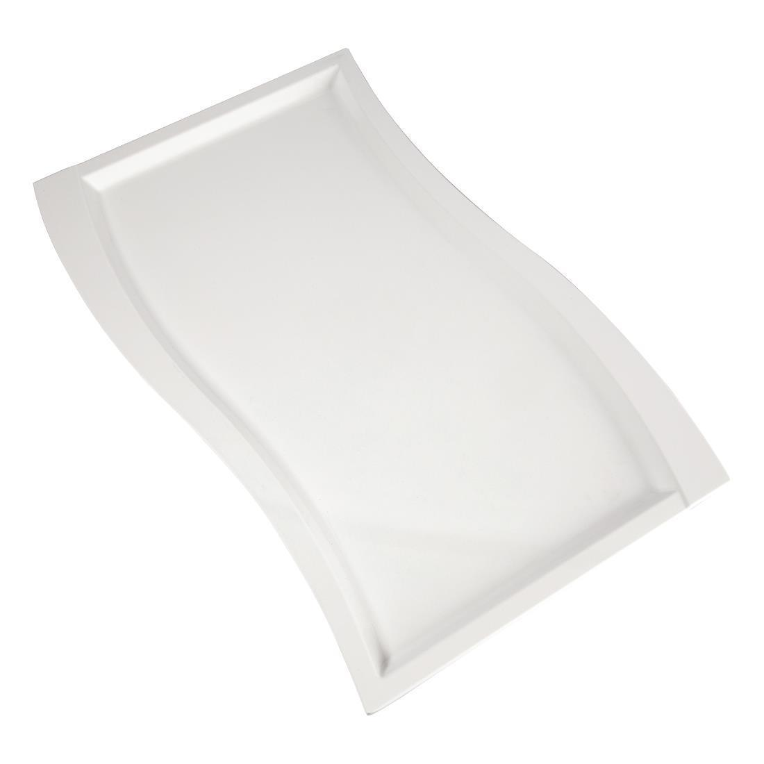 APS Wave Melamine Platter White GN 1/1 - Each - GK826