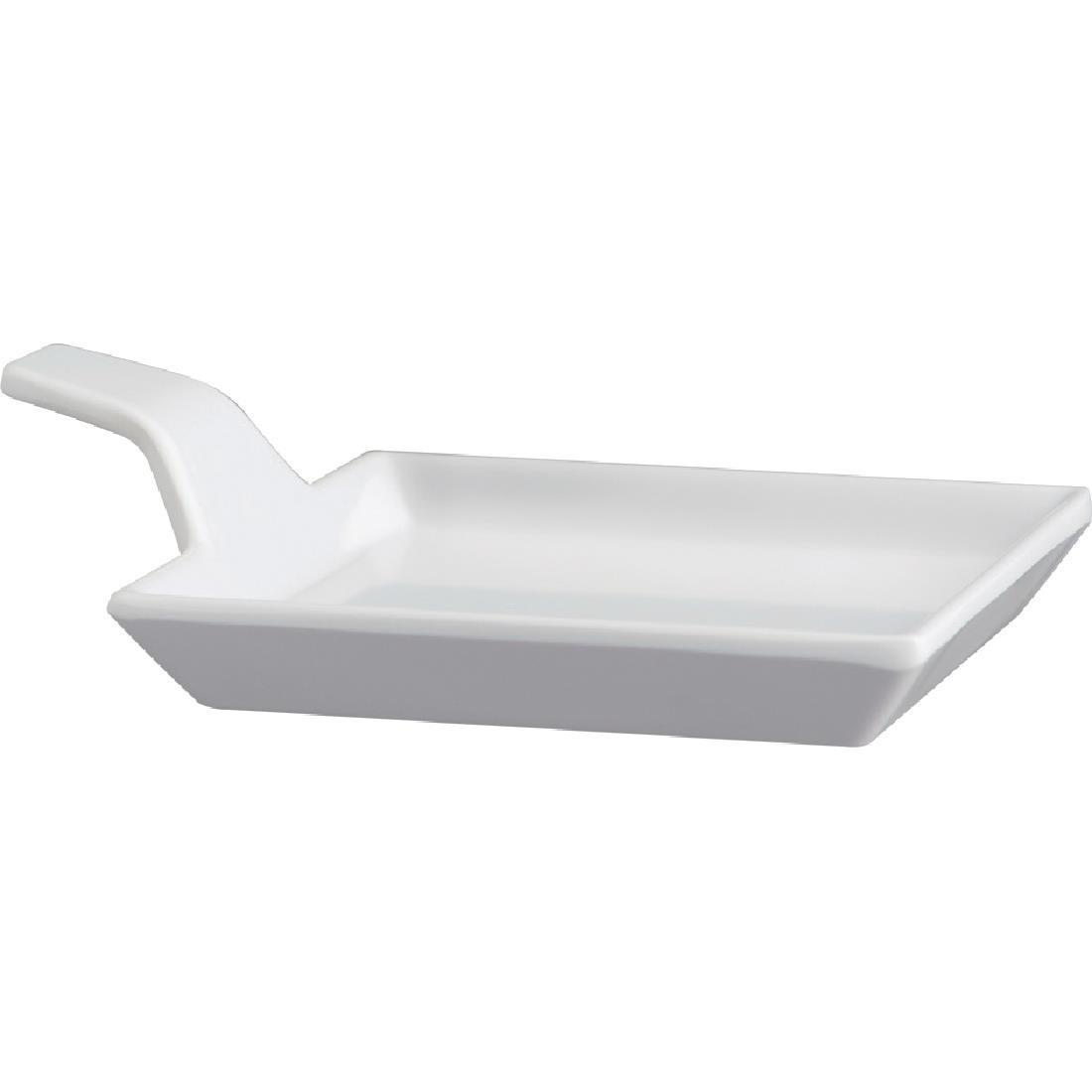 APS Melamine Fingerfood Dish White 95mm - Each - GK832