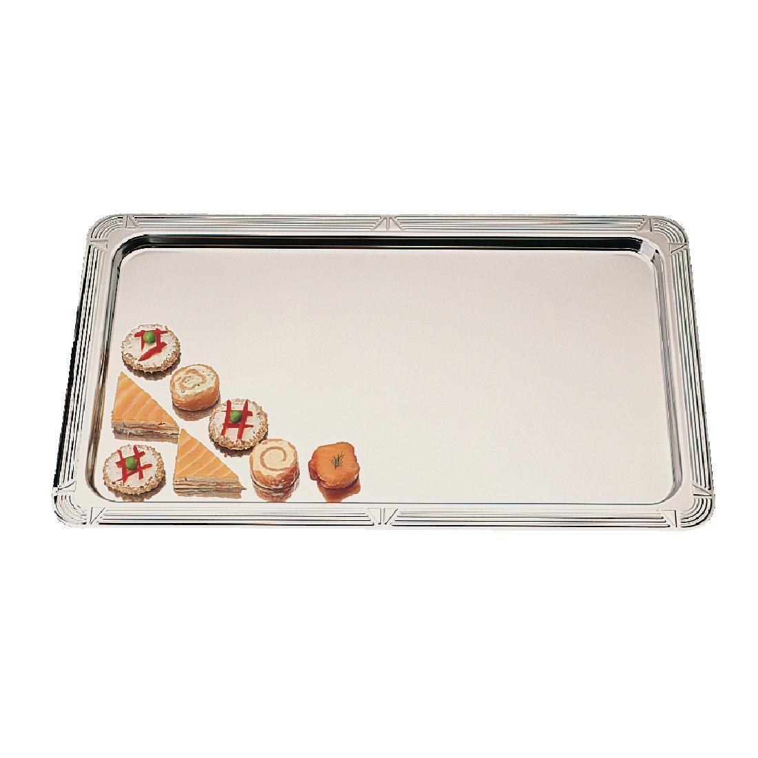 APS Stainless Steel Buffet Service Tray GN 1/1 - Each - P929