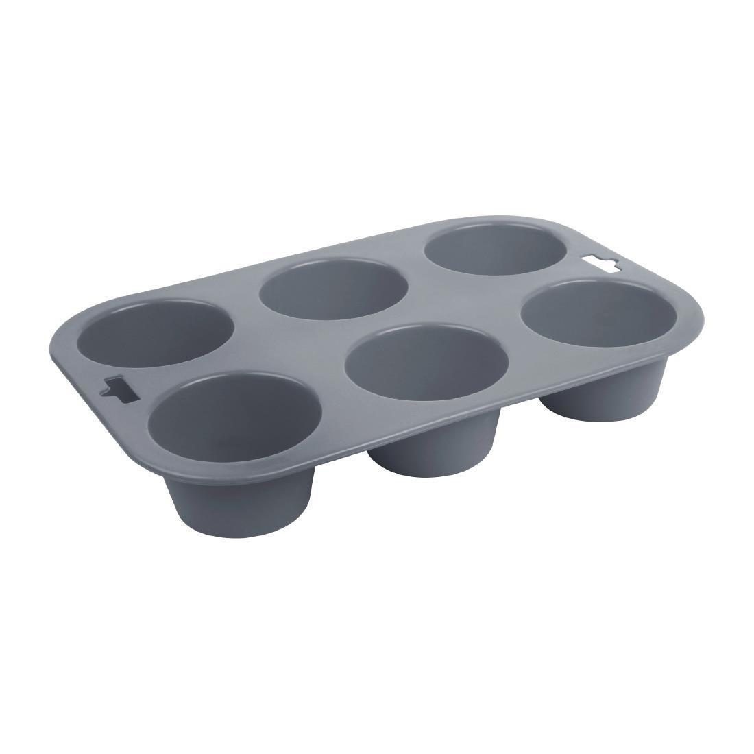 Vogue Flexible Silicone Muffin Pan 6 Cup - Each - DA520