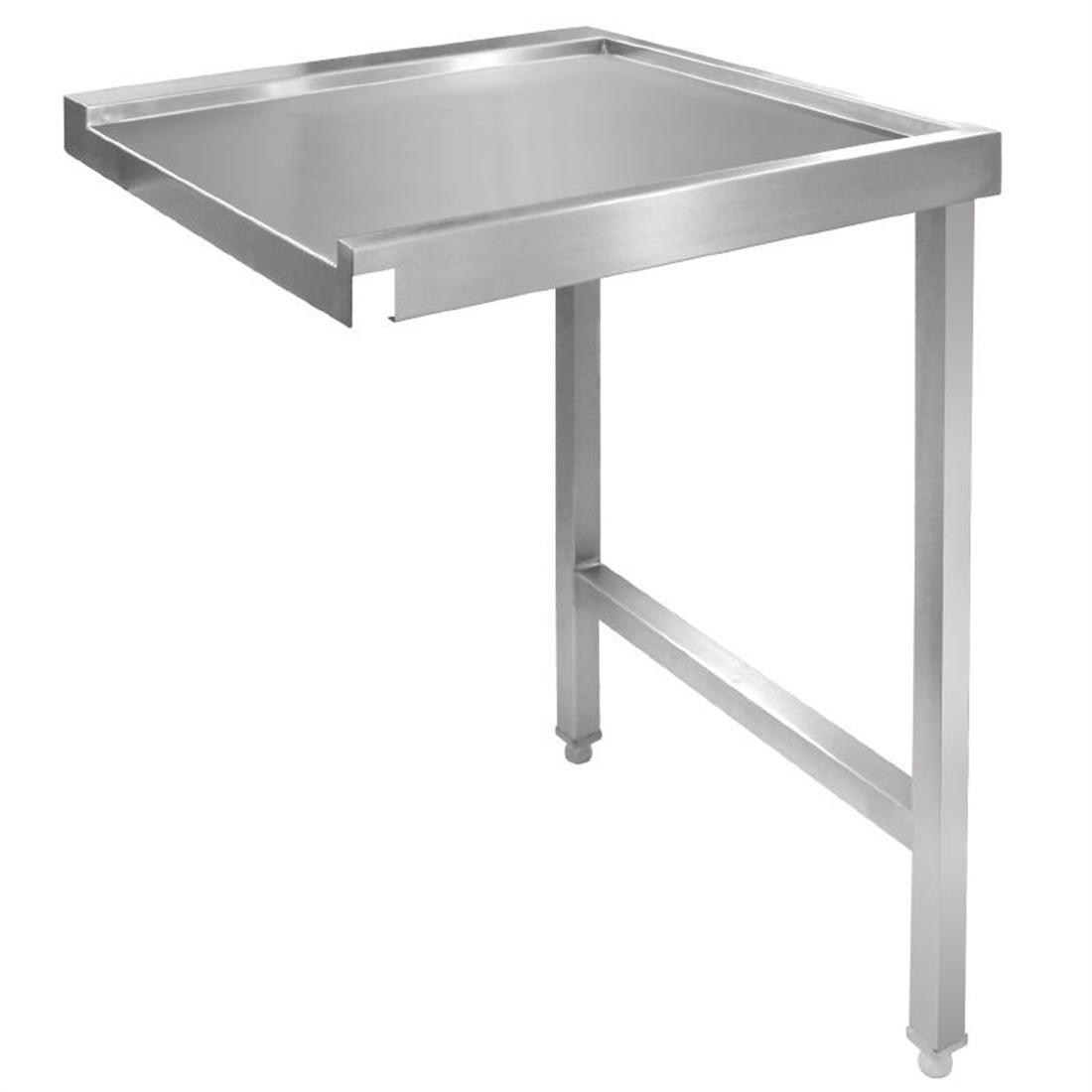 Vogue Pass Through Dishwash Table Right 1100mm - Each - GJ536