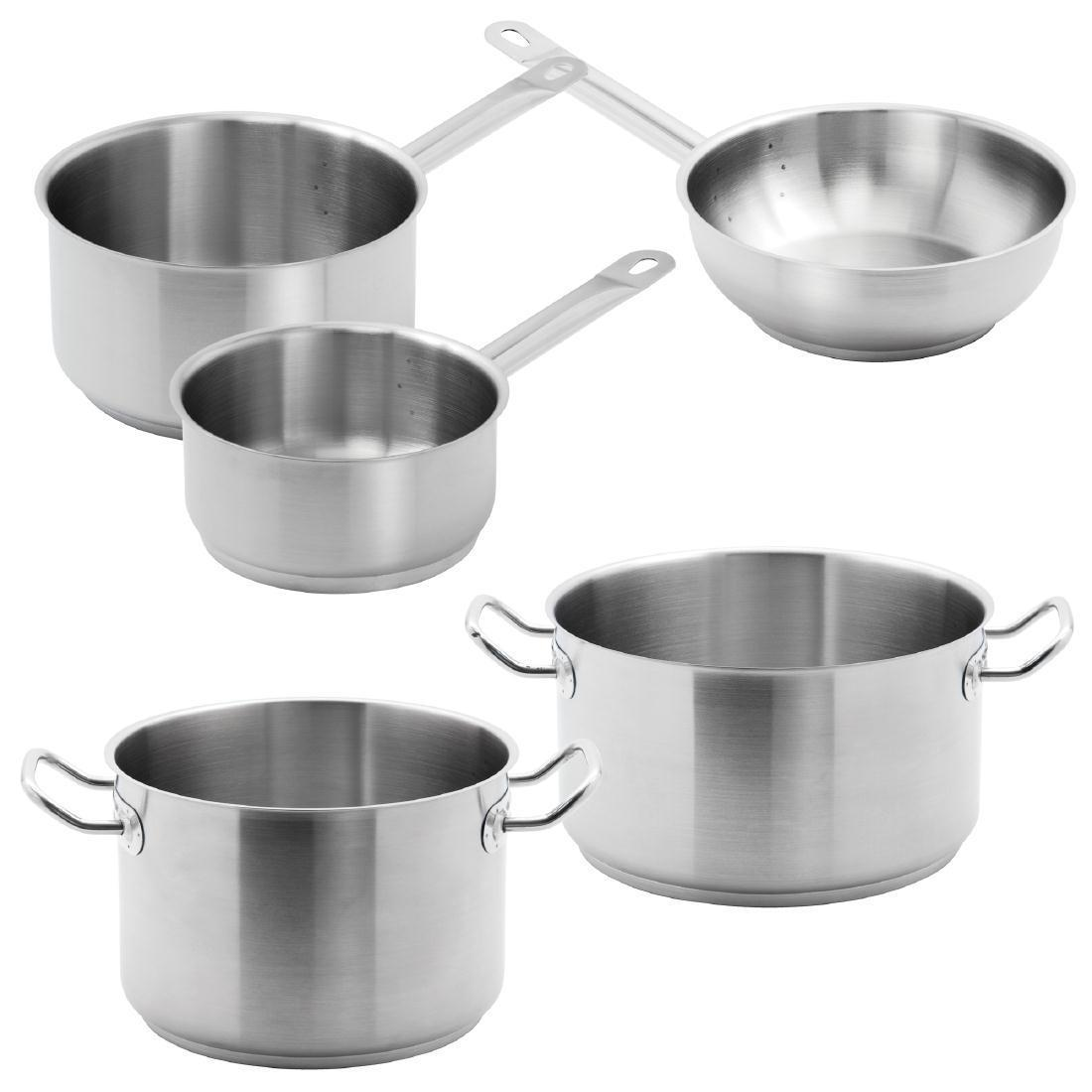 Special Offer - 5 Vogue Pack Of Casserole, Stew and Saute Pans - S121
