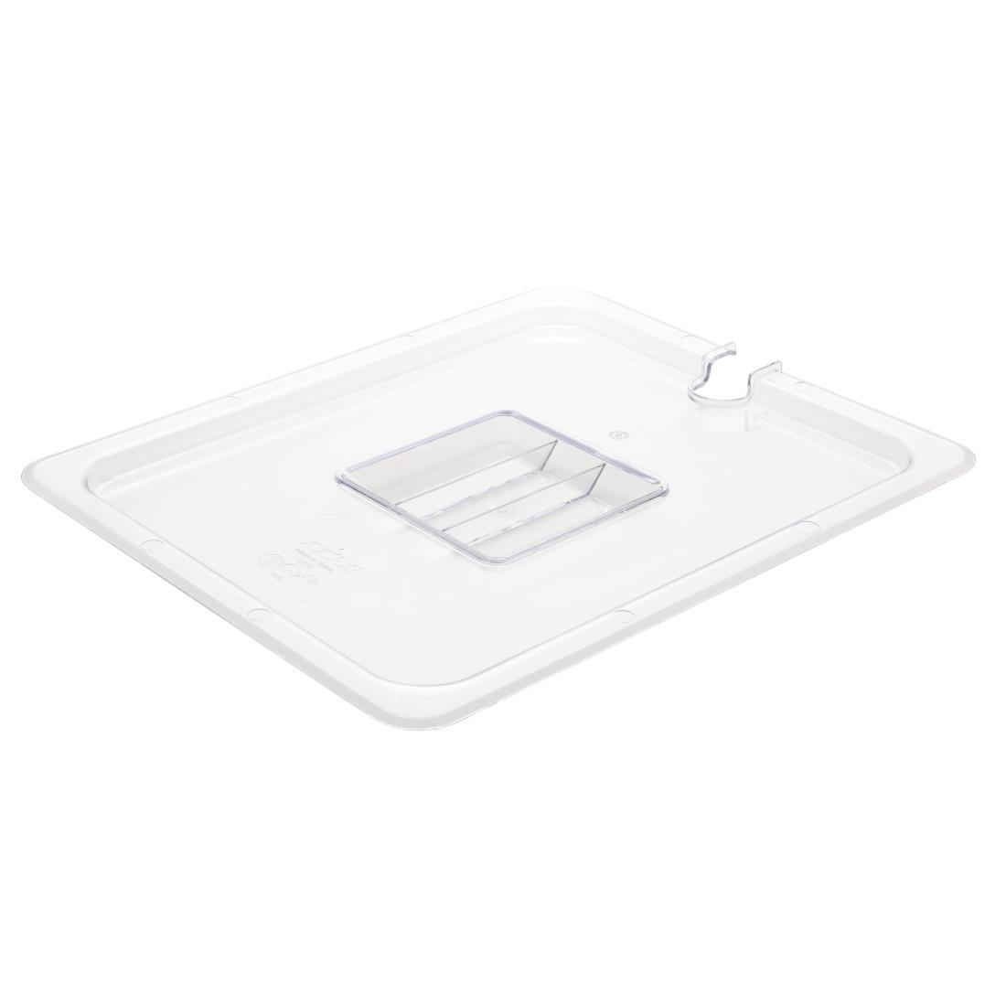Vogue Polycarbonate 1/2 Gastronorm Lid Notched - U251