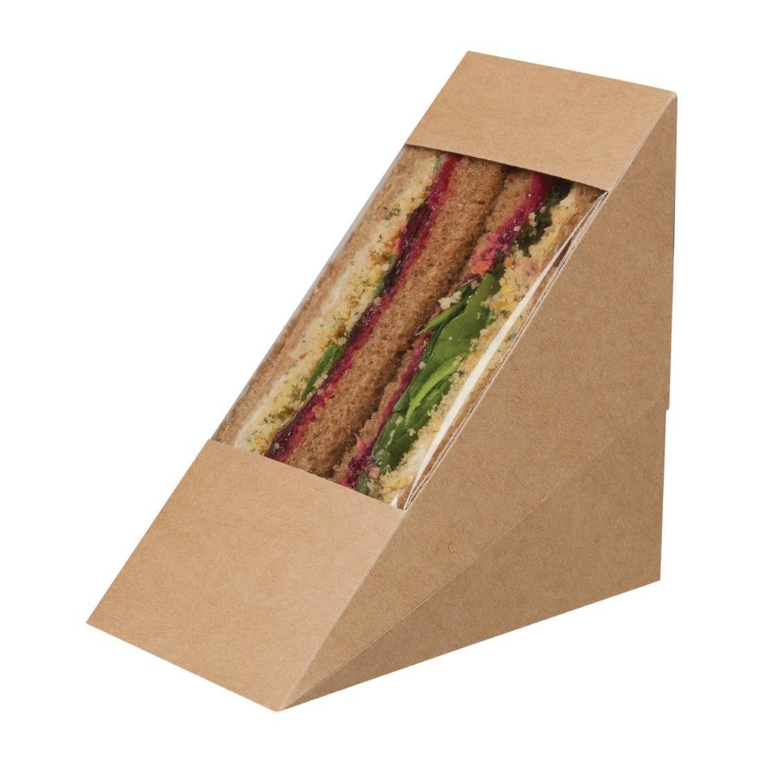 Colpac Zest Compostable Kraft Sandwich Wedges With Acetate Window