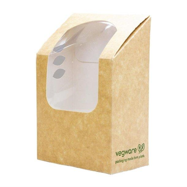 Vegware Compostable Kraft Tortilla Wrap Boxes With PLA Window