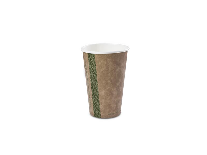 Vegware 16oz brown kraft hot cup, 89-Series