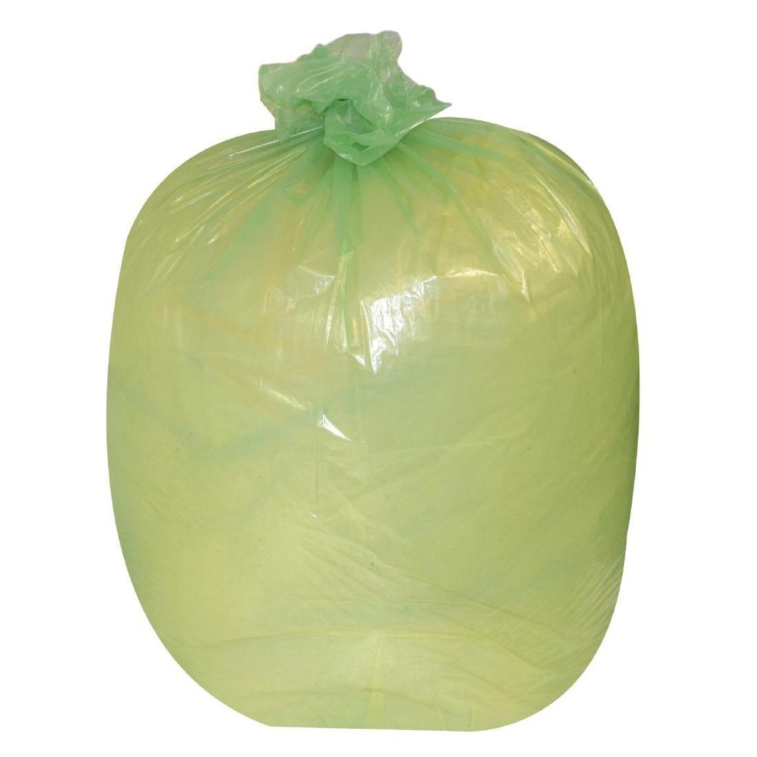 Jantex Large Medium Duty Green Bin Bags 90Ltr