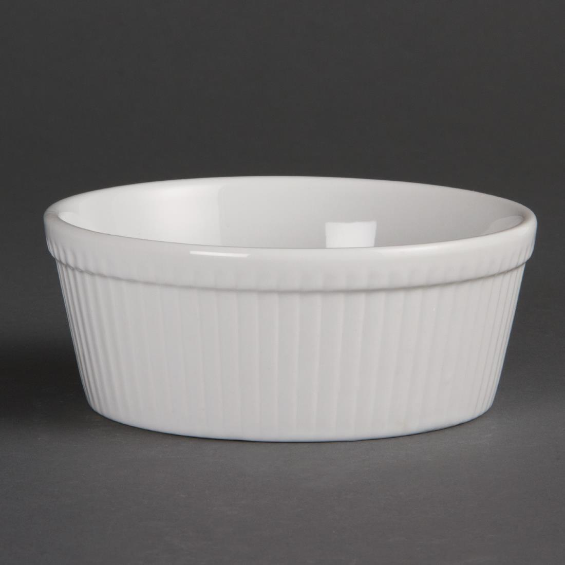 Olympia Whiteware Round Pie Dishes 134mm