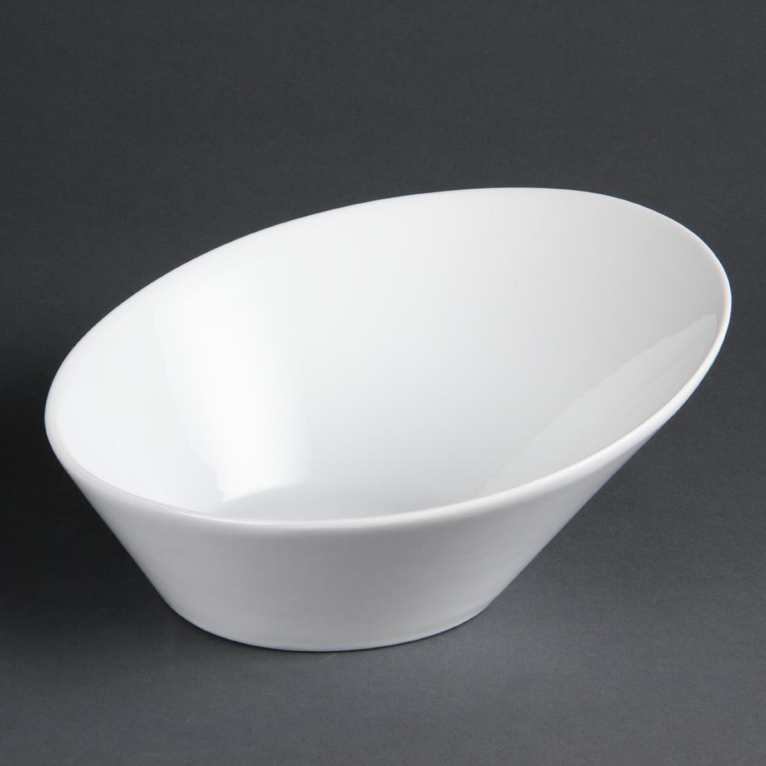 Olympia Whiteware Oval Sloping Bowls 222(W)x246(L)mm
