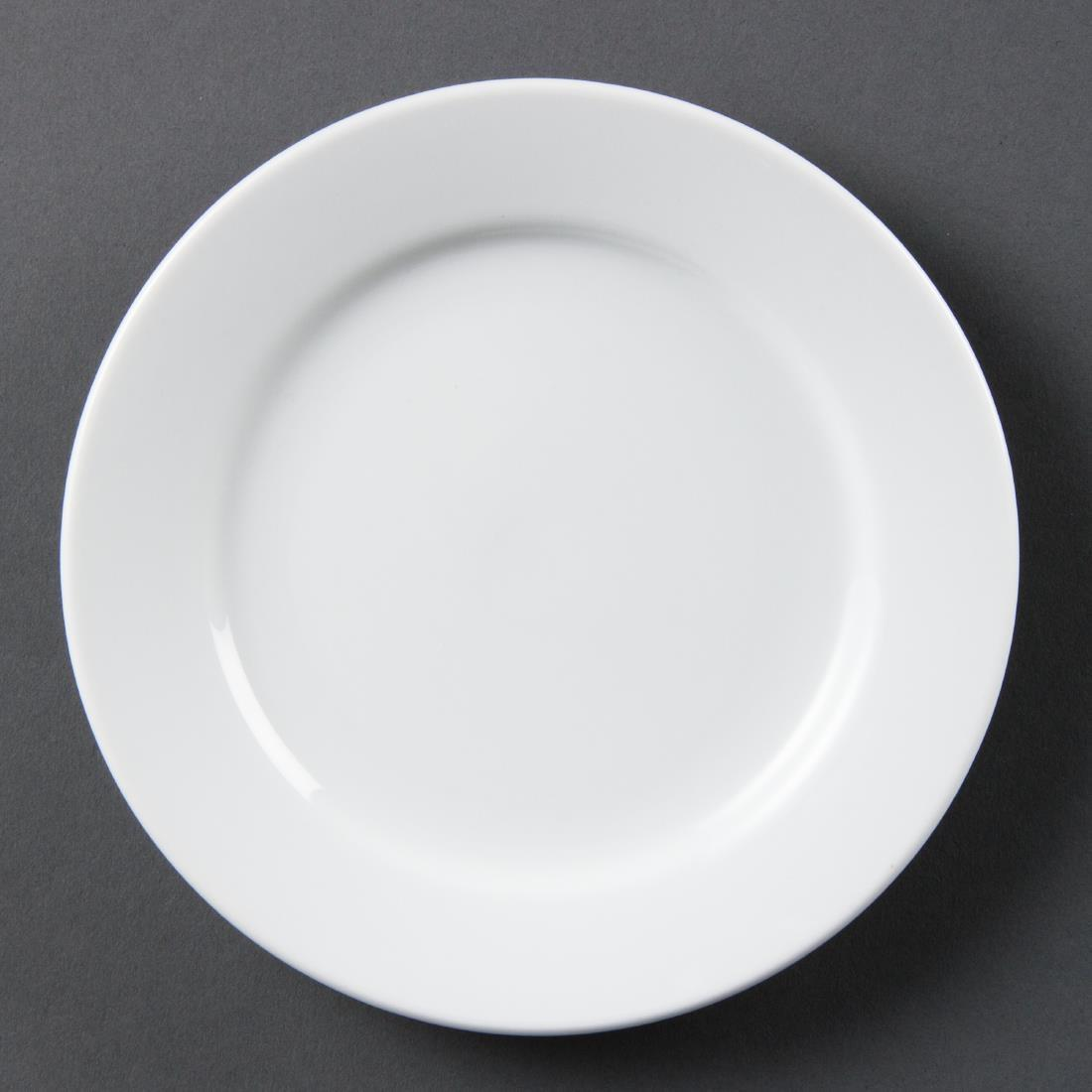 Olympia Whiteware Wide Rimmed Plates 165mm