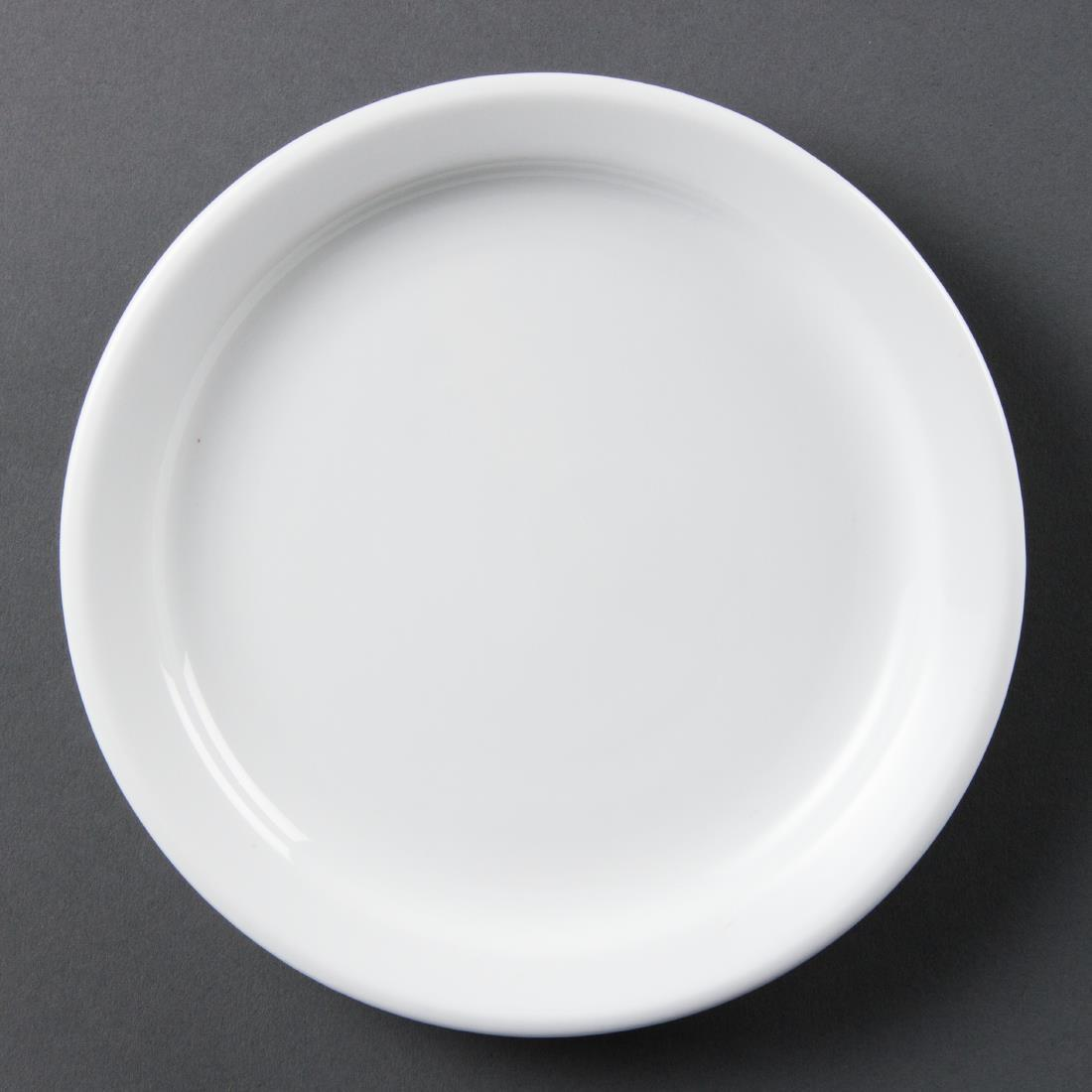 Olympia Whiteware Narrow Rimmed Plates 180mm
