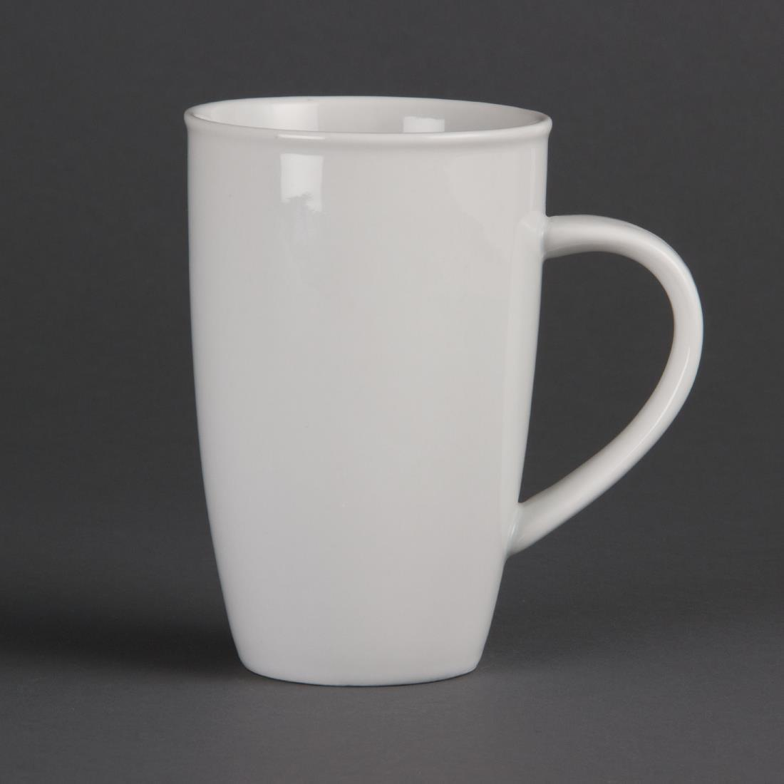 Olympia Whiteware Latte Mugs 400ml 14oz