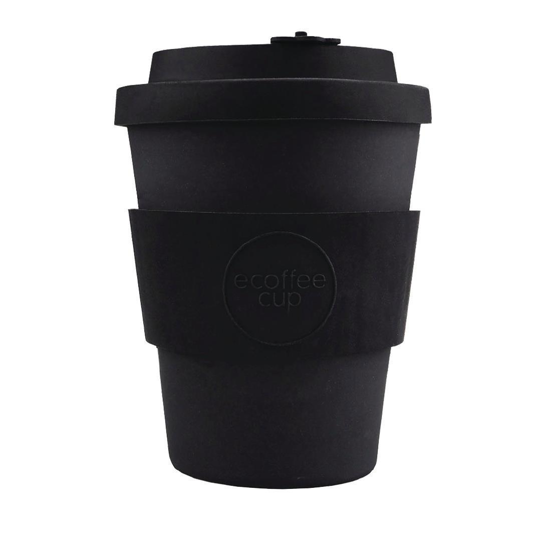 Ecoffee Cup Bamboo Reusable Coffee Cup Kerr & Napier Black 12oz - Each - DY487