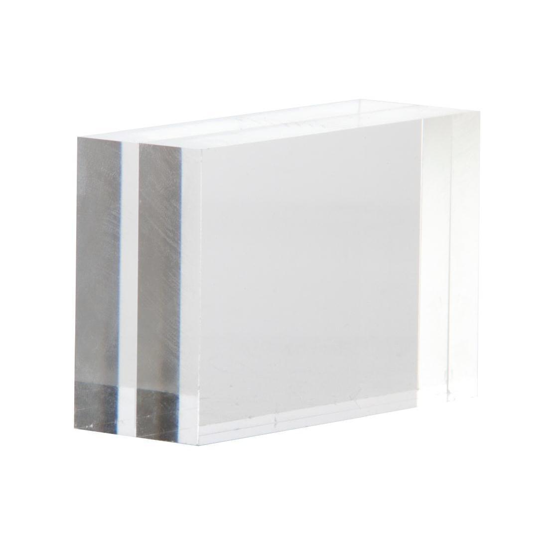 Clear block menu holder