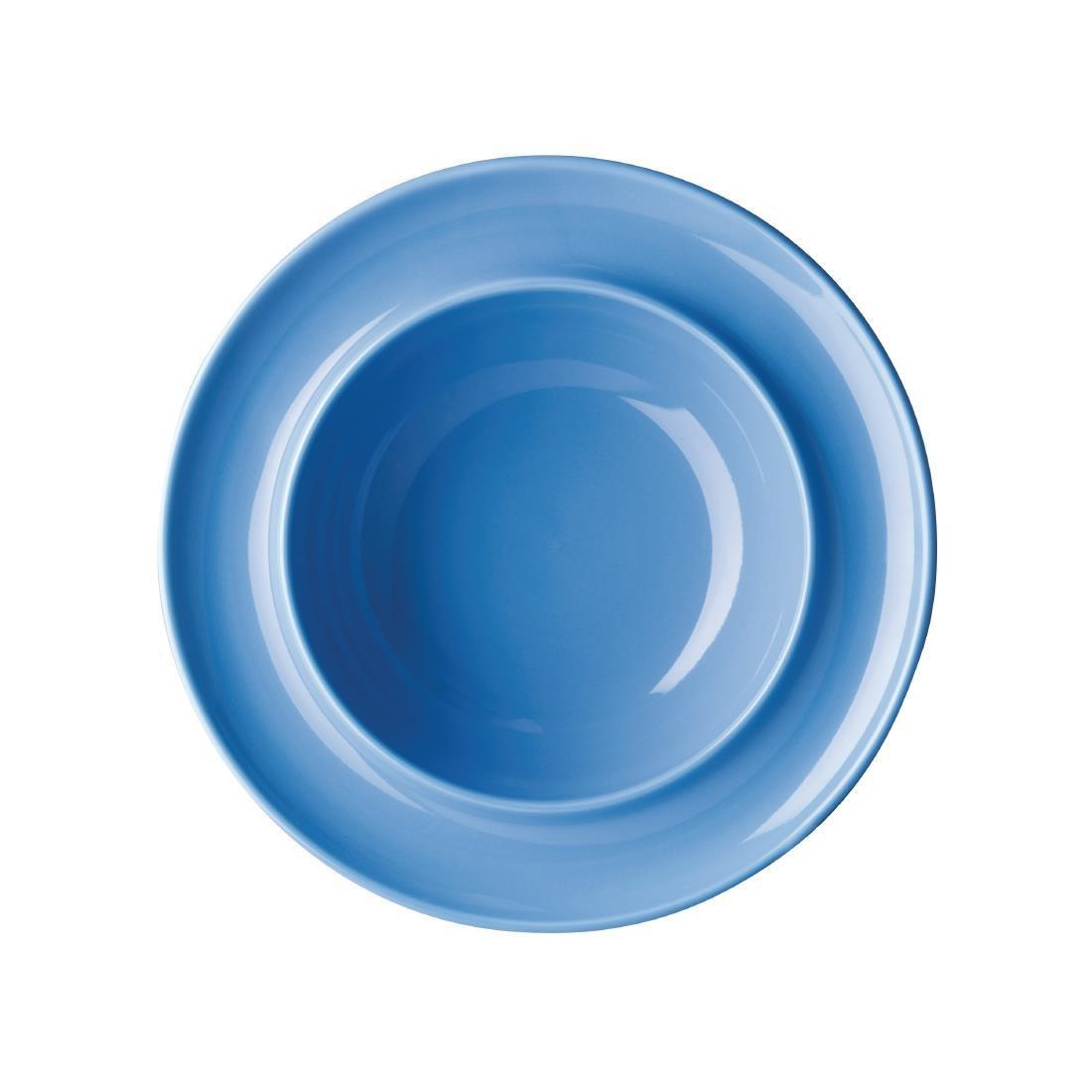 Olympia Heritage Raised Rim Bowl Blue 205mm