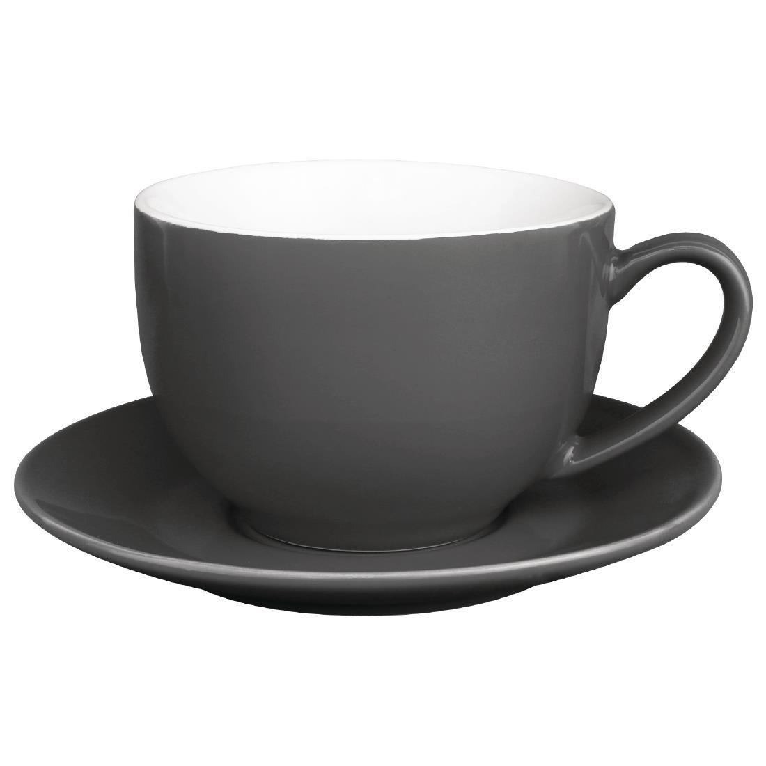 Olympia Cafe Cappuccino Cups Charcoal 340ml