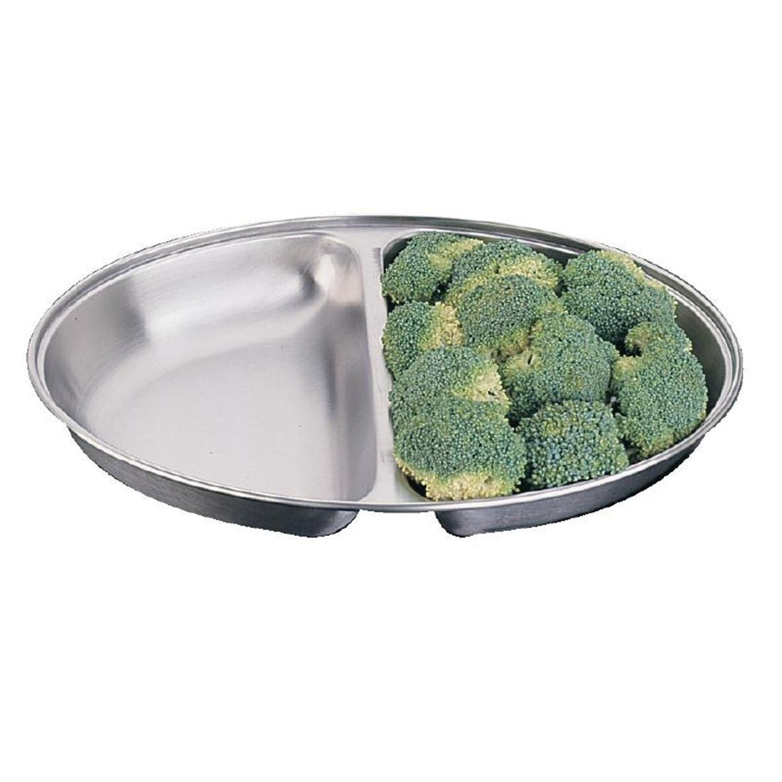 """Olympia Oval Vegetable Dish Two Compartments 200mm"""
