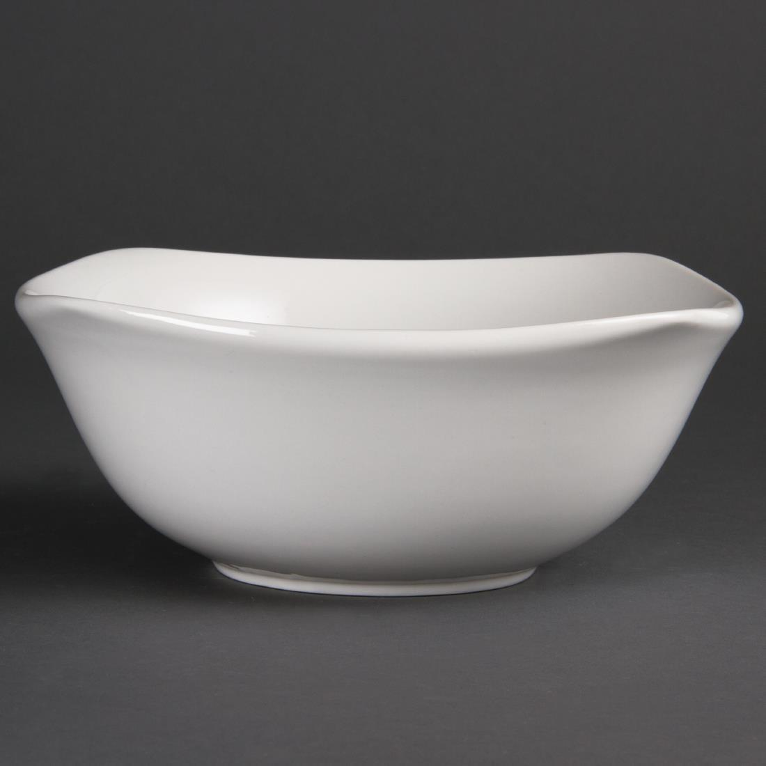 Olympia Whiteware Rounded Square Bowls 220mm