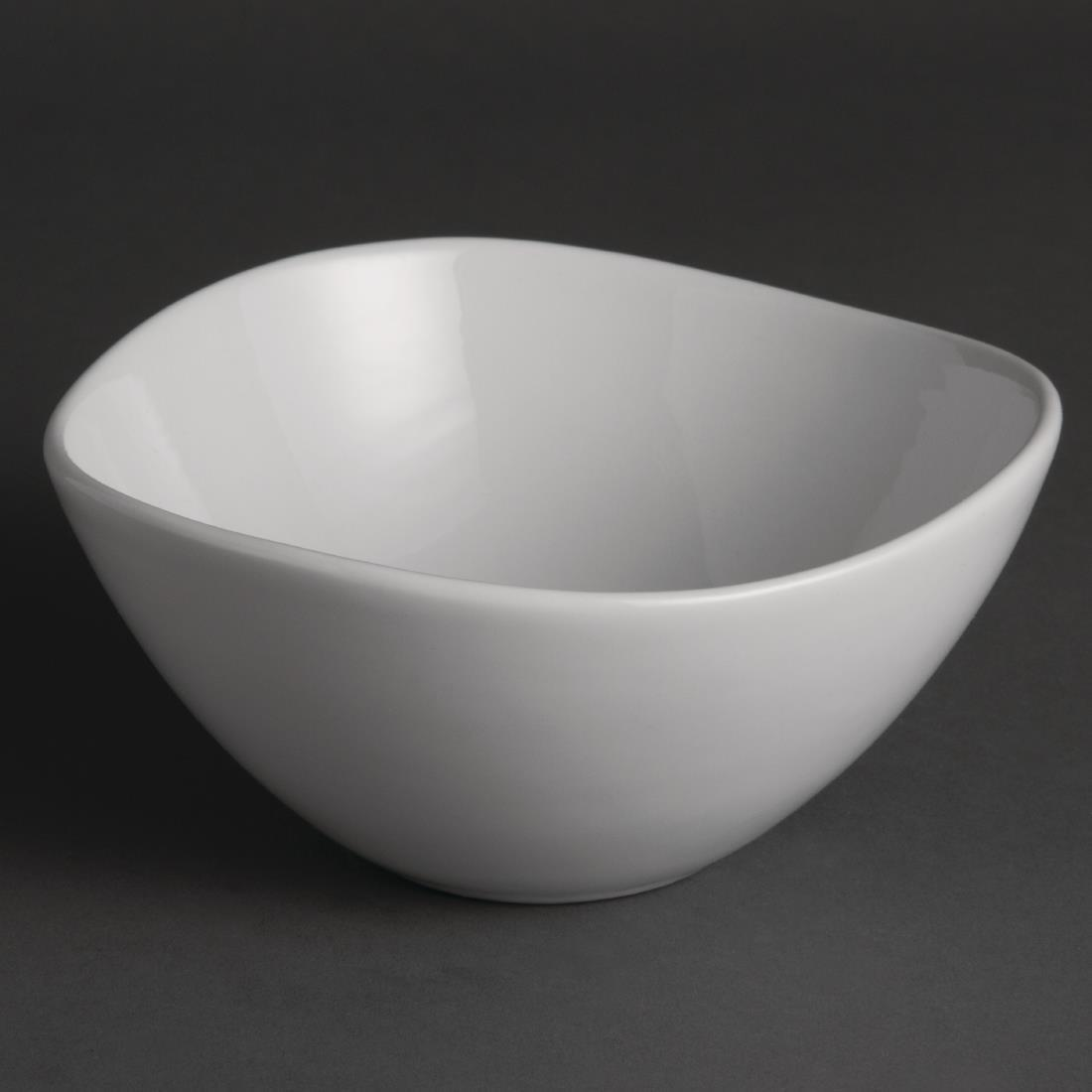 Olympia Whiteware Wavy Bowls 150mm