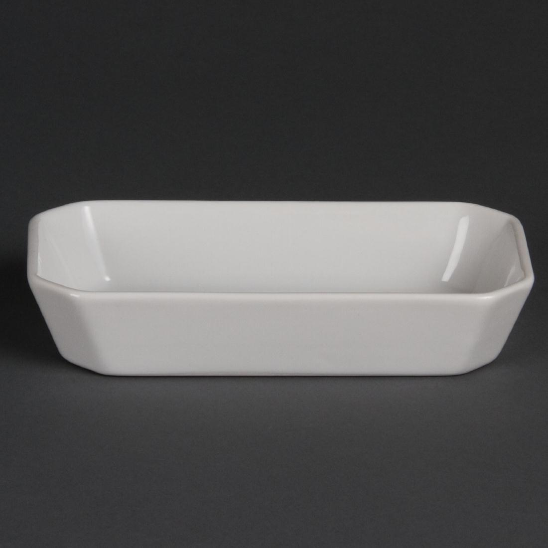 Olympia Whiteware Oblong Hors d'Oeuvre Dishes 185mm