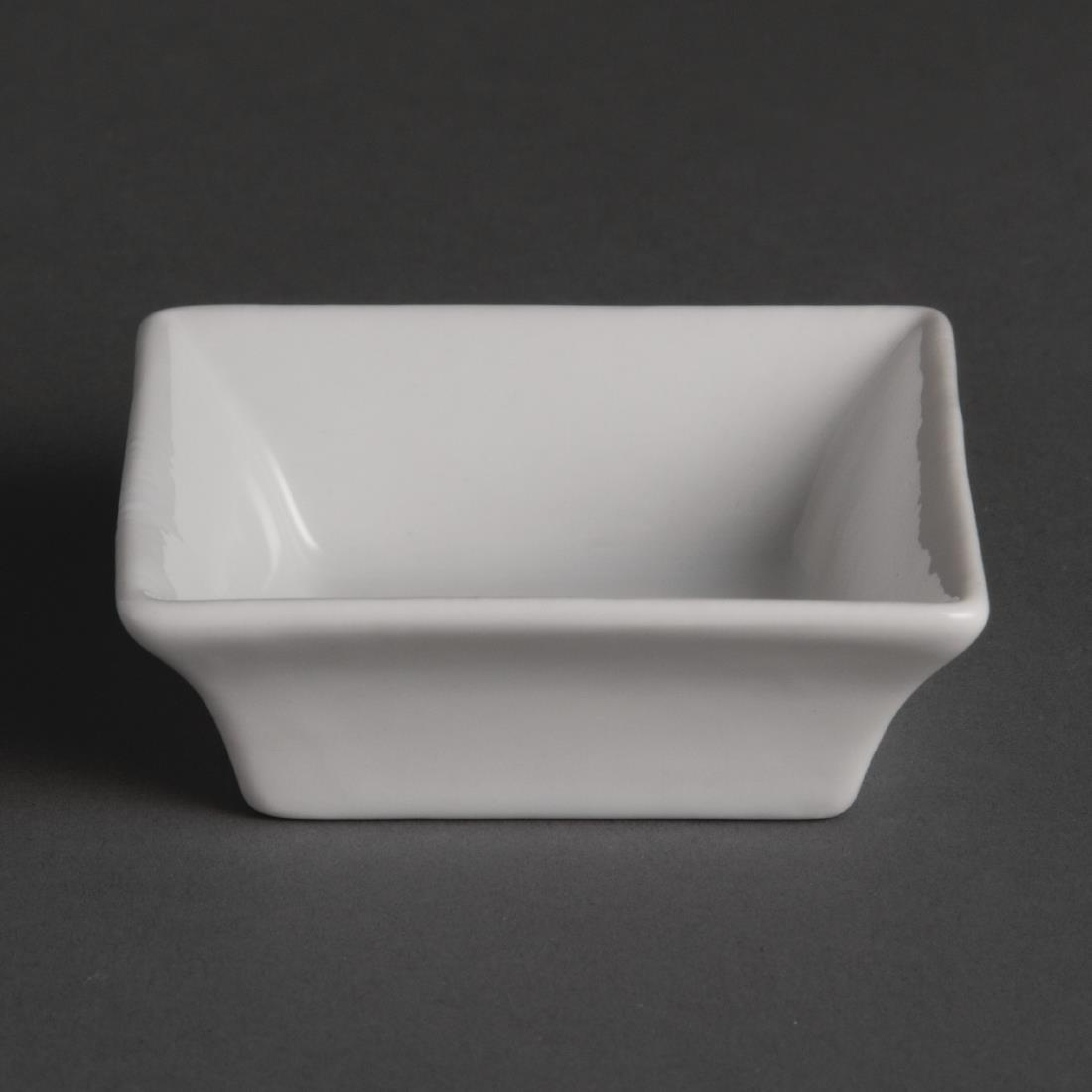 Olympia Miniature Square Dishes 75mm