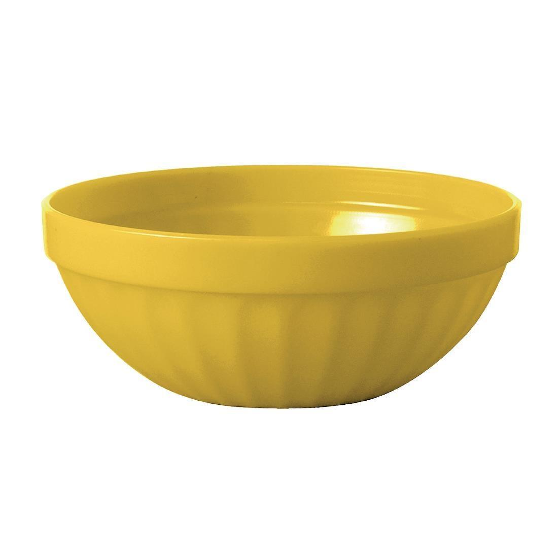 Kristallon Polycarbonate Bowls Yellow 102mm - Case 12 - CE274