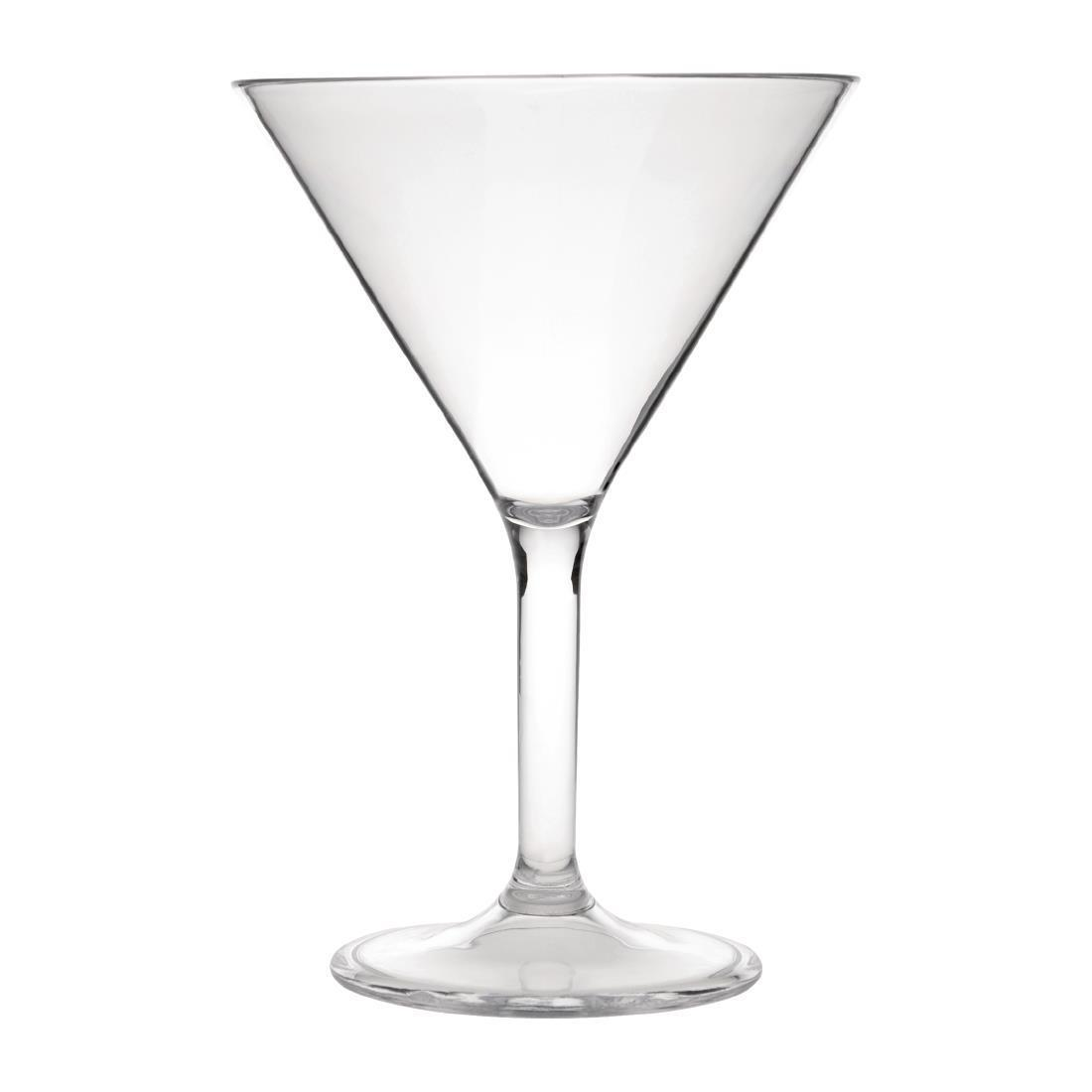 Kristallon Polycarbonate Martini Glasses 300ml - Case 12 - DS131