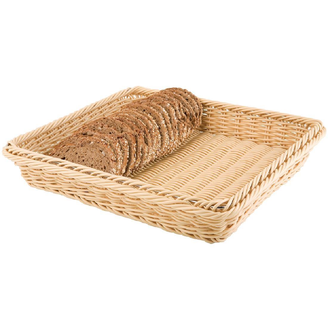 Polypropylene Natural Rattan Basket 1/2 GN - Each - CF303