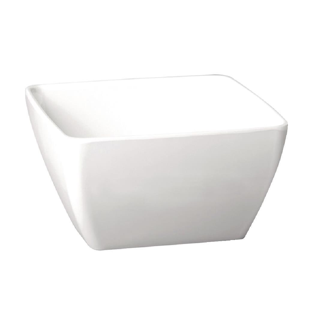 APS Pure Melamine White Square Mini Bowl - Each - GF132